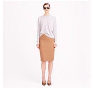 J Crew Double Serge Wool No 2 Pencil Skirt